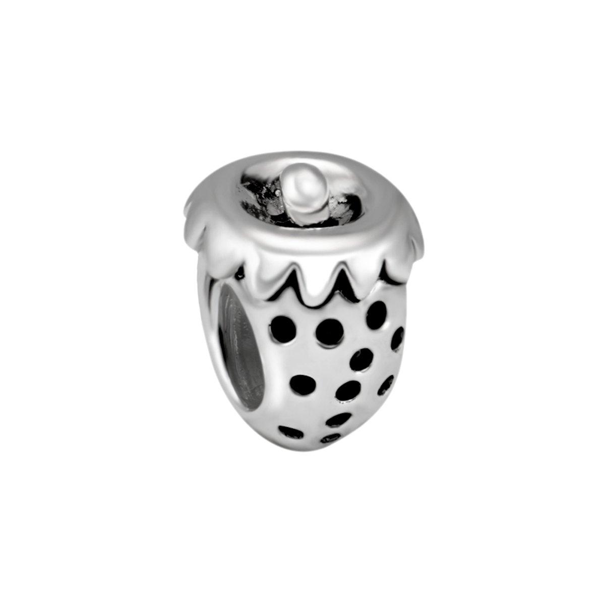 Quiges Bedel Bead - 925 Zilver - Aardbei Kraal Charm - Z176 kopen