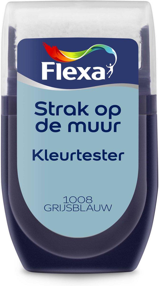 Flexa Strak op de Muur Muurverf Tester 1008 Grijsblauw 30 ML kopen