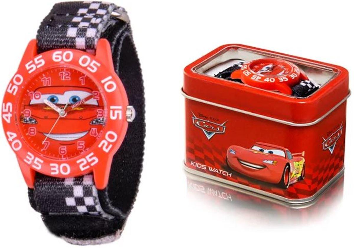 Disney Horloge - Cars - Rood/Red - Geschenkdoosje kopen