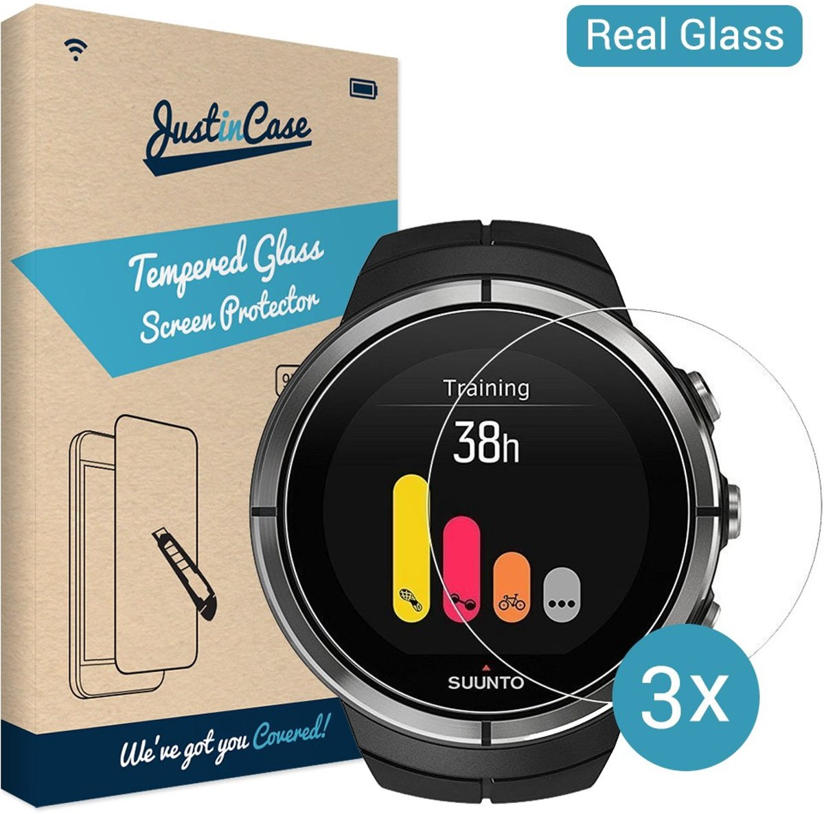 Just in Case Tempered Glass Suunto Spartan Ultra - 3 pack kopen