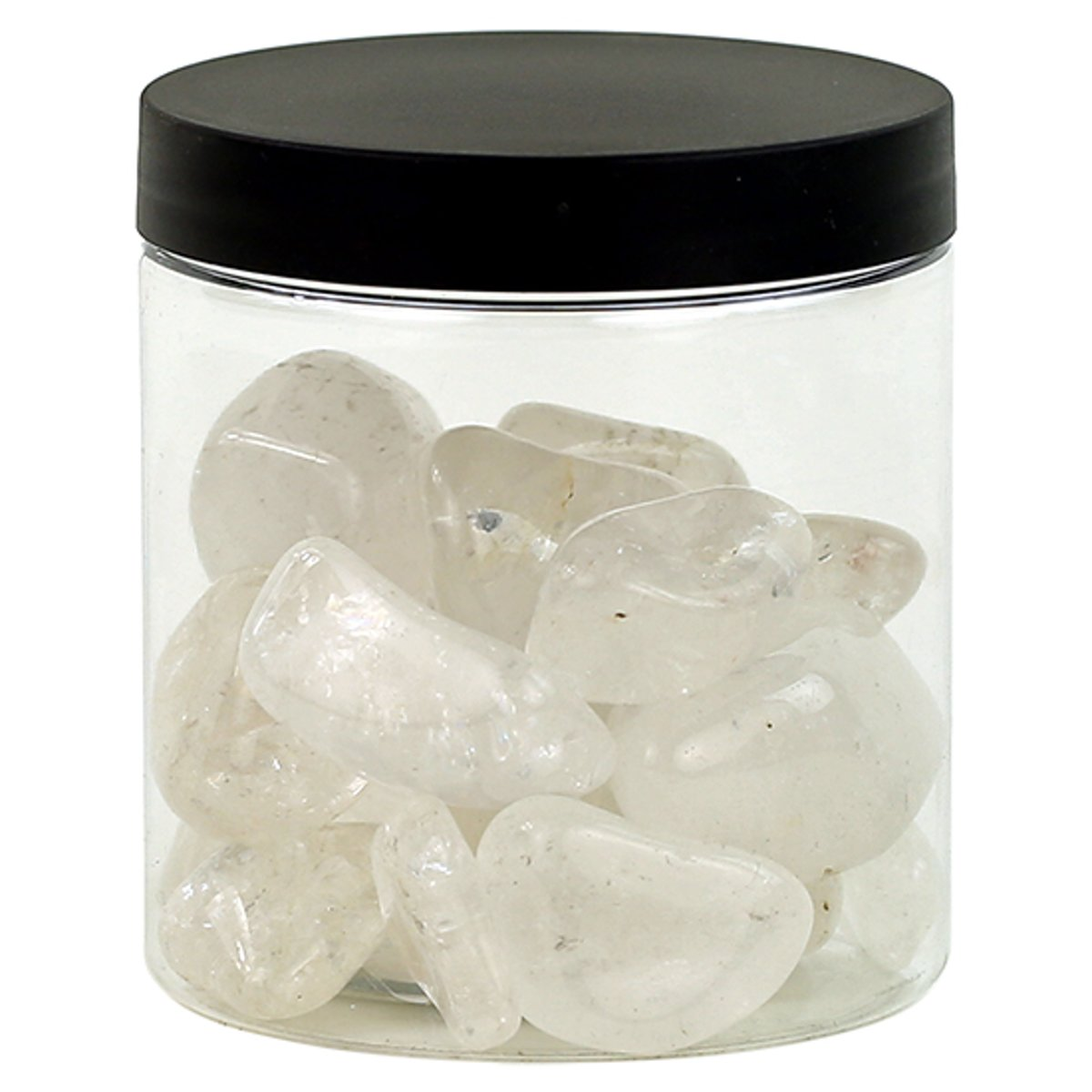 Yogi & Yogini naturals Bergkristal B large in transparante pot (±250 gram) kopen