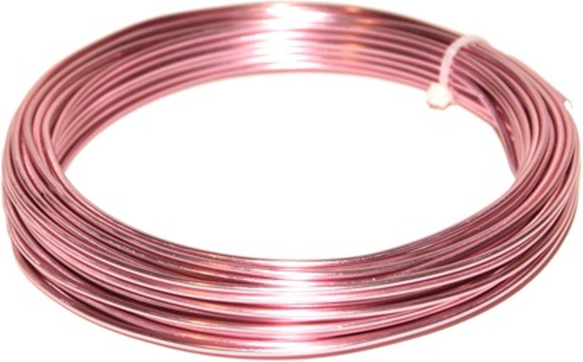Hortensia roze ijzerdraad 2 mm-12 meter lang-100gr. kopen