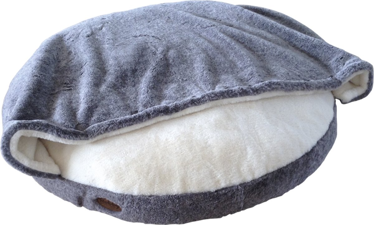 Nobby - kattenmand - rond met deken - lichtgrijs - 92 CM