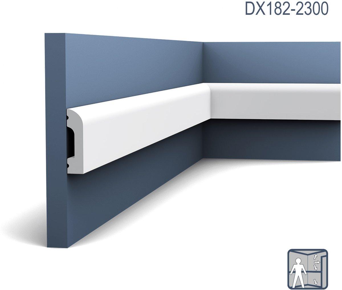 Deuromlijsting Orac Decor DX182-2300 AXXENT CASCADE Plint Wandlijst modern design wit 2,3m kopen