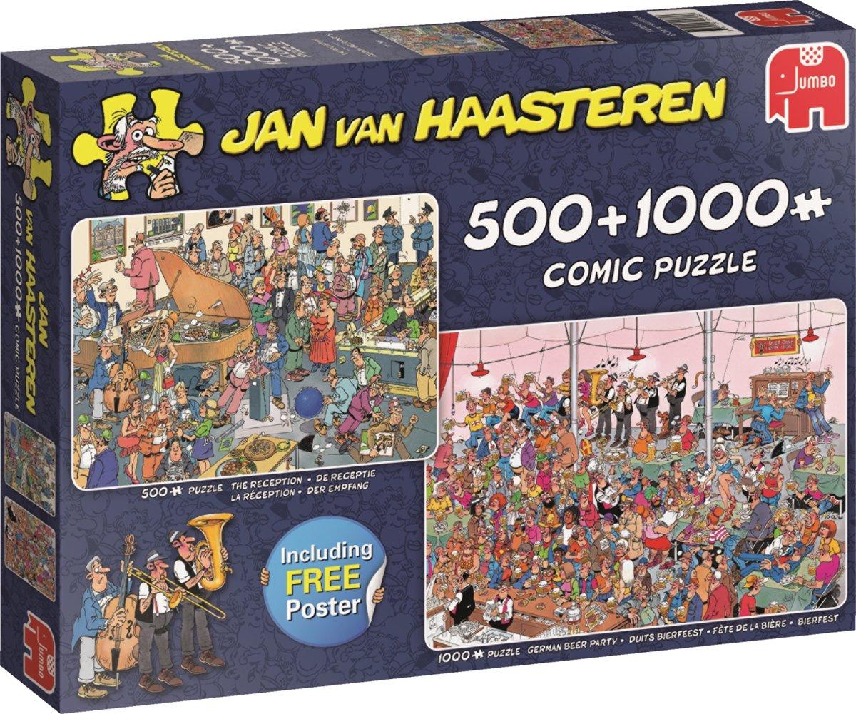 Jan van Haasteren Feestje! - Puzzel 2in1 500 & 1000 stukjes kopen