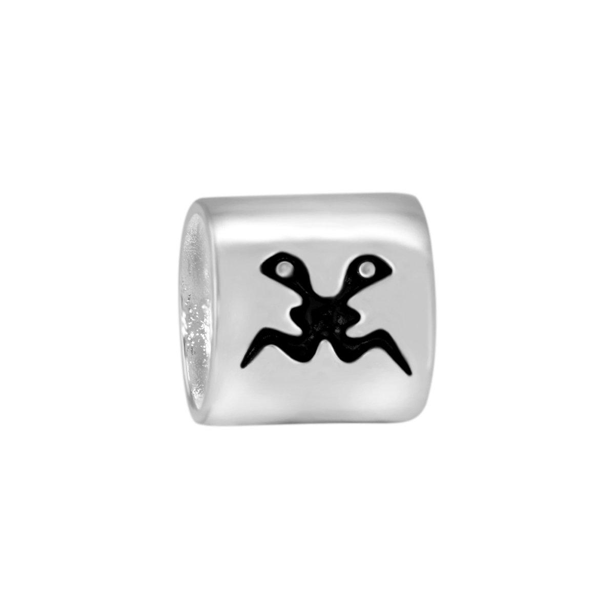 Quiges Bedel Bead - 925 Zilver - Horoscoop Tweeling Kraal - Z153 kopen