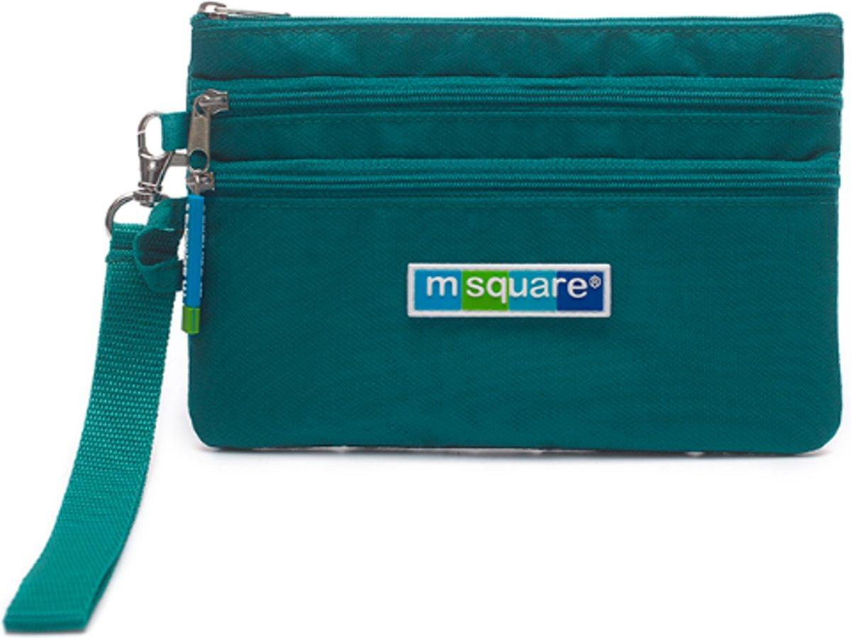 Een organizer met 3 lagen voor kleine voorwerpen - met RFID-beschermmateriaal - Reistas - Helderblauw | m square kopen