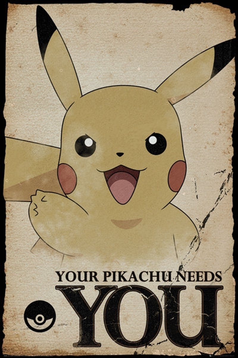 POKEMON - Poster 61X91 - Pikachu Needs You kopen