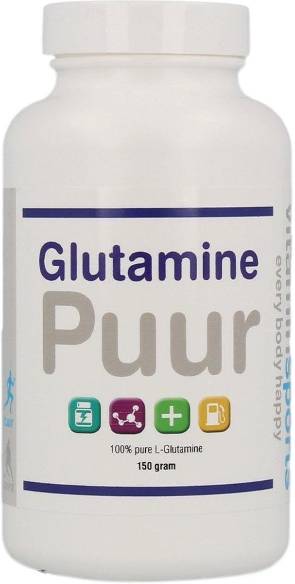 Vitaminstore - Glutamine Puur - 500 gram - Aminozuur - Zonder zoet- of smaakstoffen - Herstel na sport kopen
