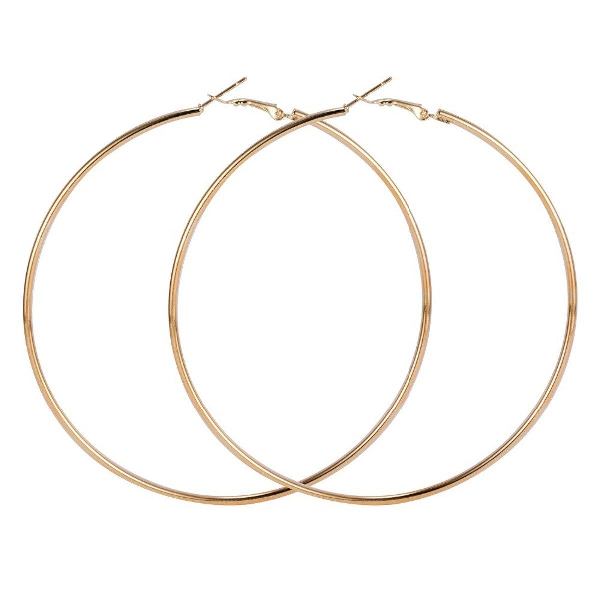 Fako Bijoux® - Oorbellen - oorringen - 90mm - Goudkleurig kopen