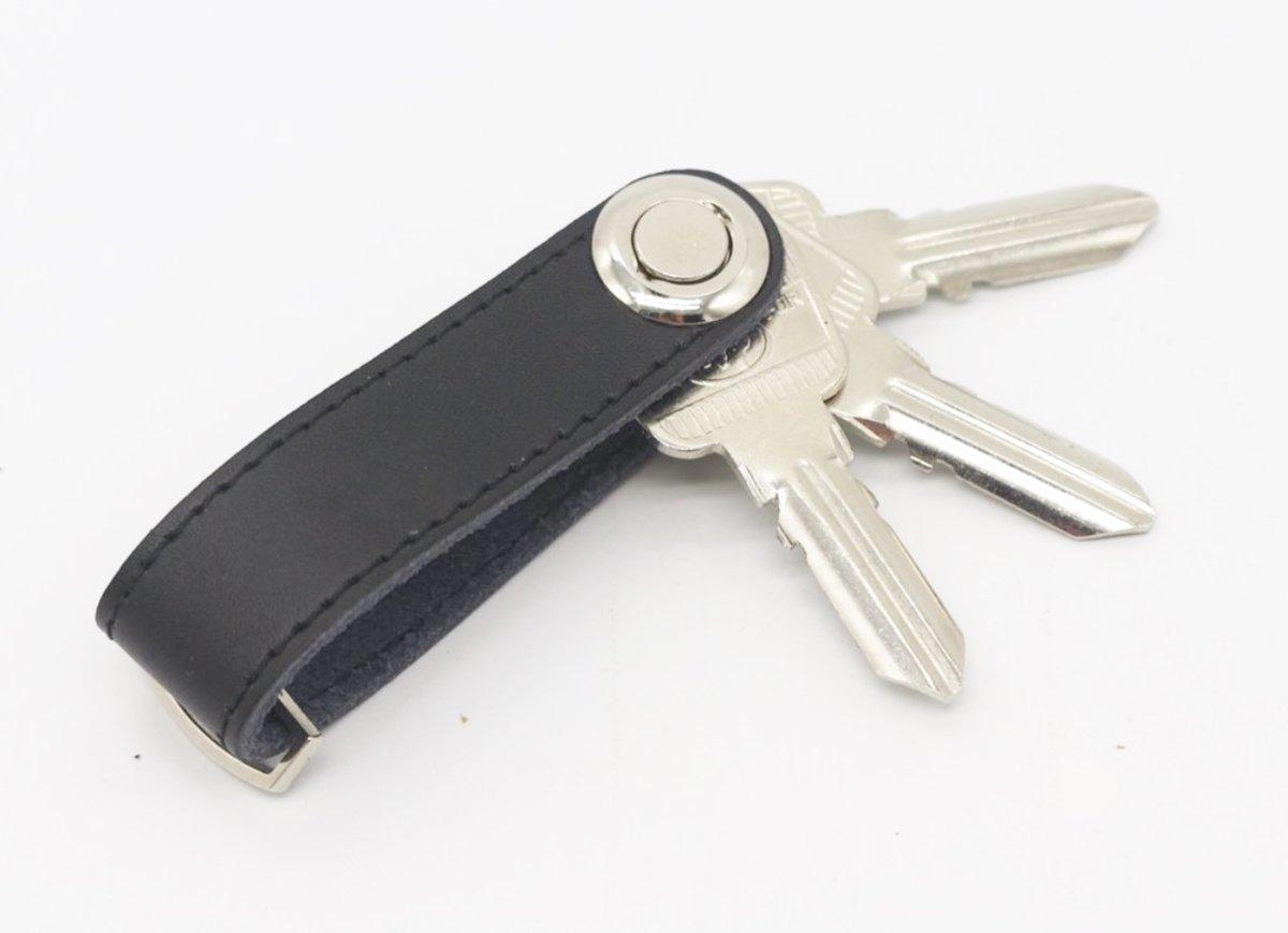 Sleutel Organizer Leer voor Mannen en Vrouwen | Key Organizer Leather | Sleutelhanger | Stijlvol & Praktisch | 2 tot 8 sleutels | Sleutelhoes | Cadeau voor man | Zwart Leder kopen