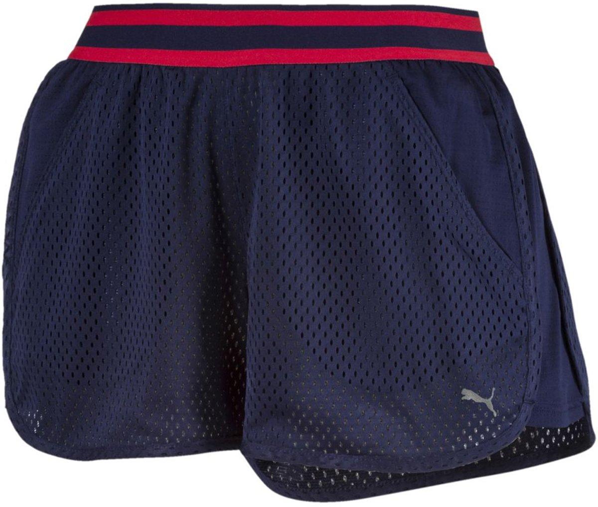 PUMA A.C.E. Mesh Short Sportbroek Dames Peacoat Maat L