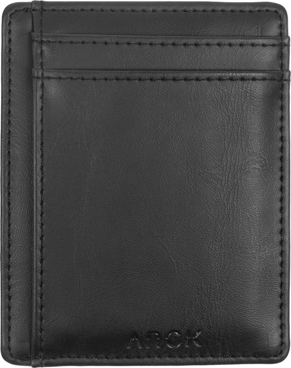 ARCK Ultra Slim Leren Portemonnee met Venster Incl. RFID Bescherming (Zwart) kopen