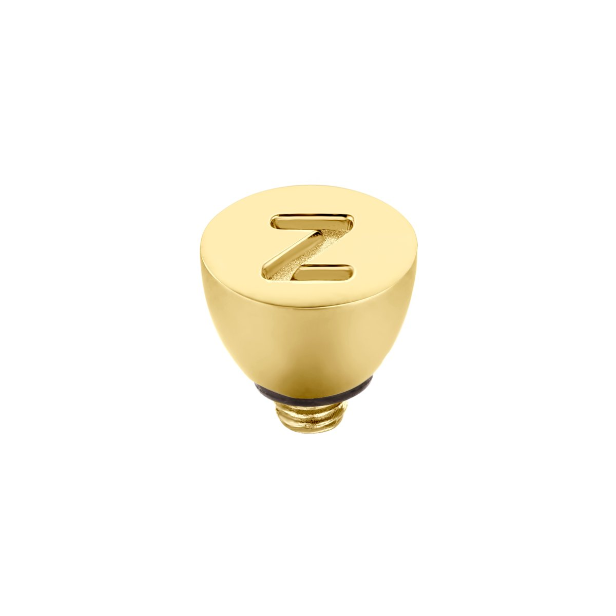 Melano twisted alfabet steentje letter Z - goudkleurig - dames kopen