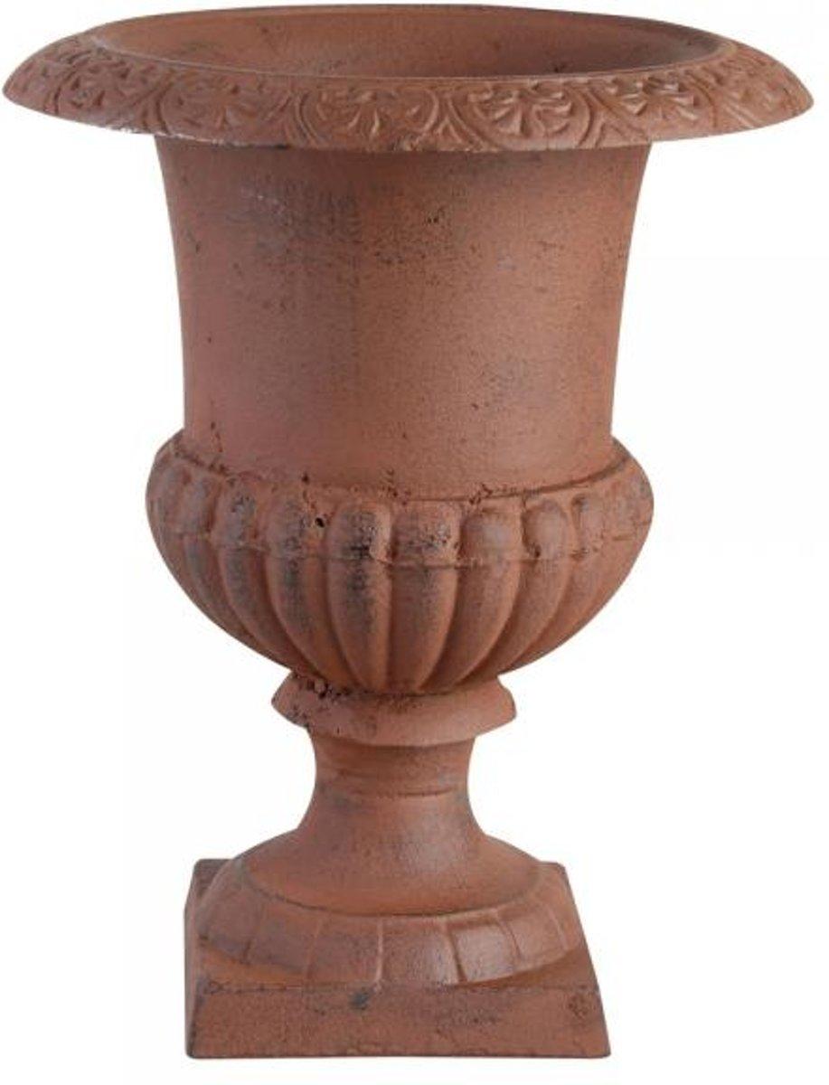 Franse hoge vaas 29 cm Antiek roestbruin kopen