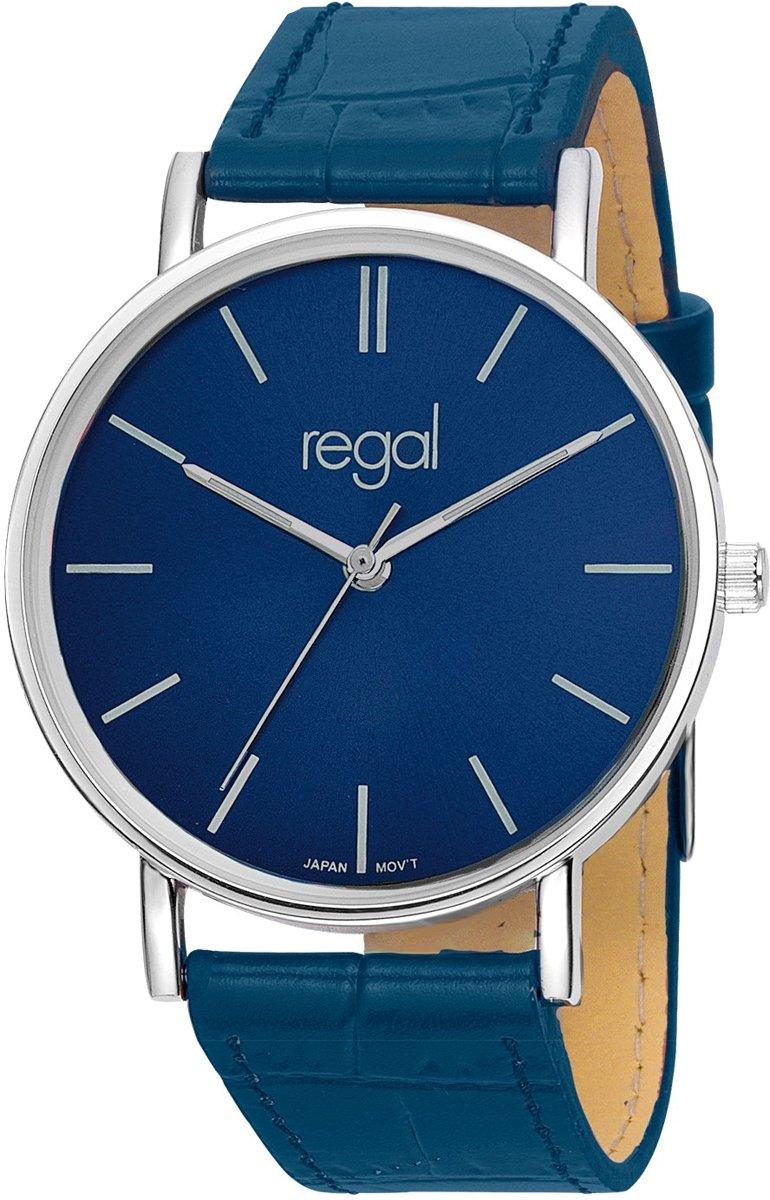 Regal Slimline R16280-13 -  Horloge - Leer - Blauw - 39 mm kopen