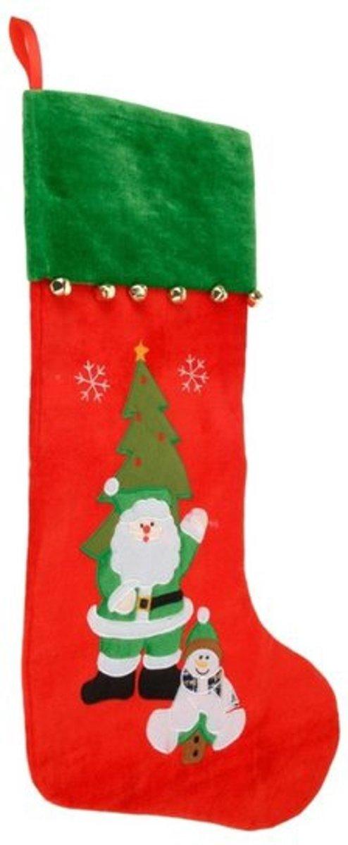 Kerstsok velvet rood kopen