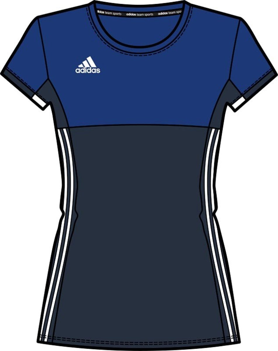 Adidas T16 'Oncourt' Short Sleeve Shirt Dames Shirts blauw donker L