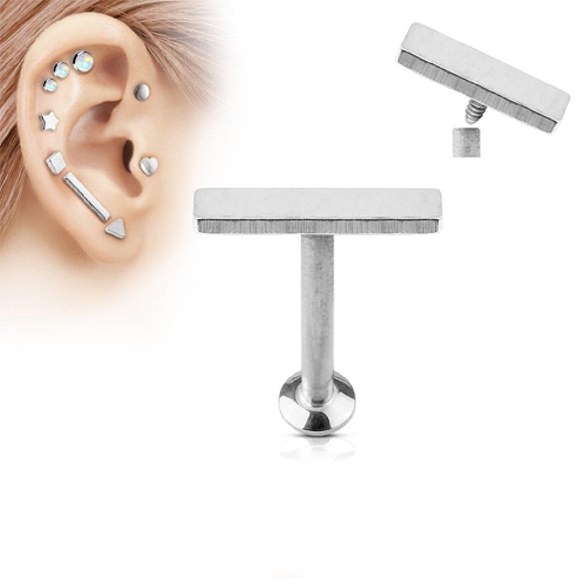 Helix piercing balk top chirurgisch staal 4mm kopen