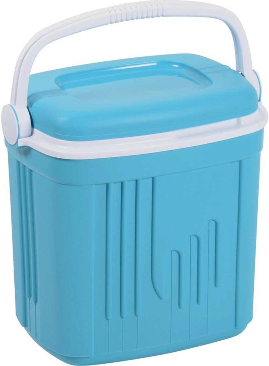 Koelbox kunststof blauw 20 liter - Koelboxen voor onderweg kopen