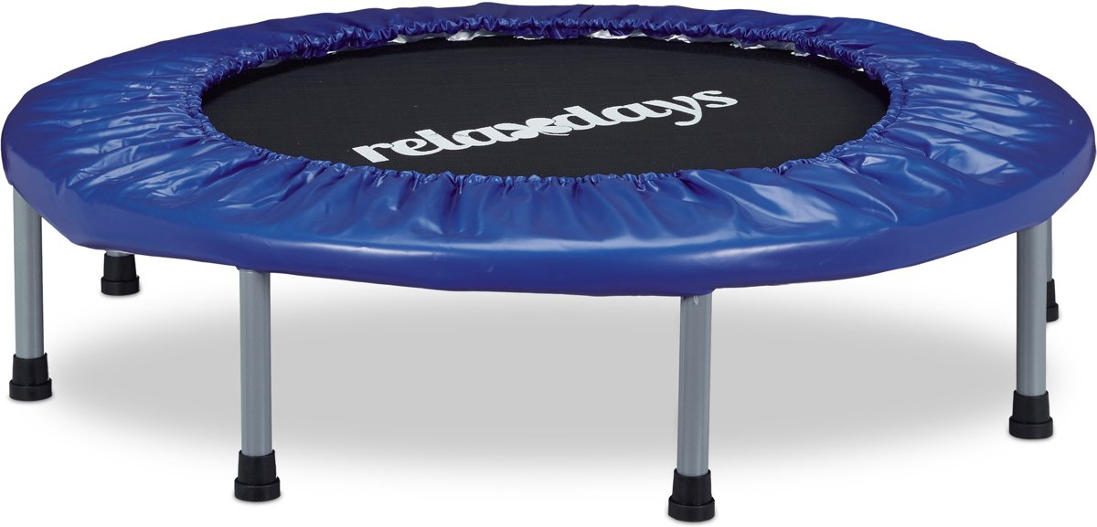 relaxdays - opvouwbare trampoline - fitness - indoor - fitnesstrampoline - 95 cm