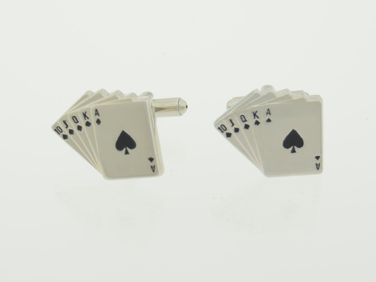 Treasure Trove® Royal Flush Manchetknopen - Poker - Dames - Heren kopen