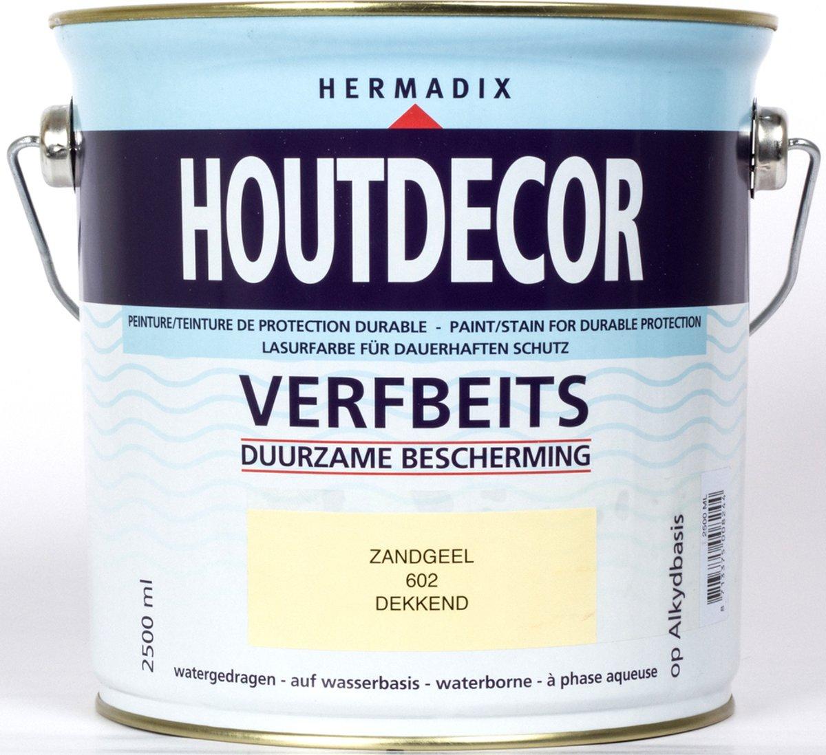 Hermadix Houtdecor verfbeits zandgeel 602 2,5 l kopen