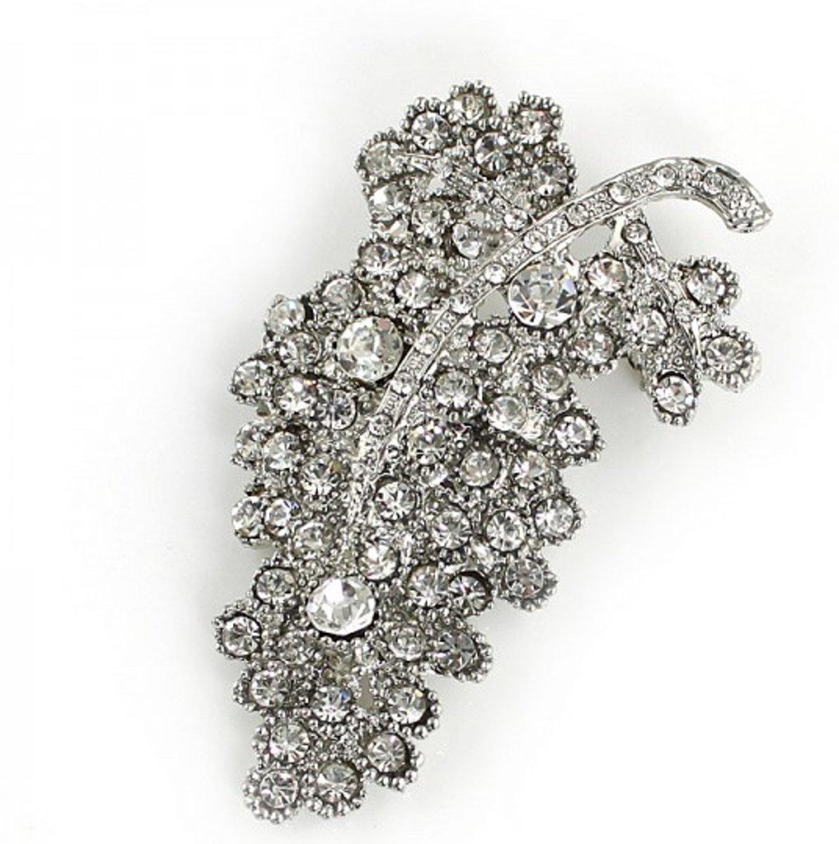 Broche met Kristal - 7.5 cm - Musthaves kopen