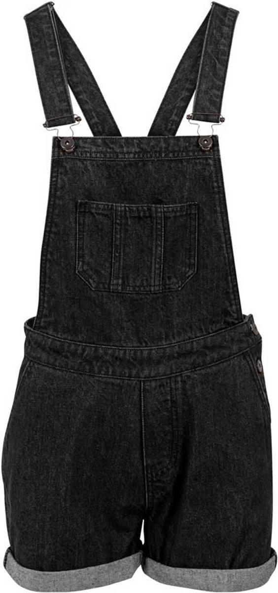 Dungaree korte dames tuinbroek zwart L Urban Classics