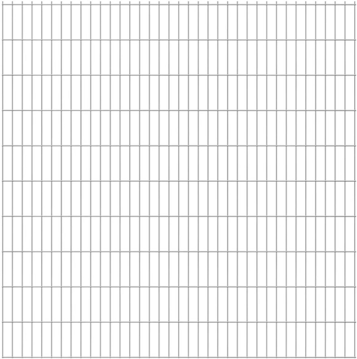 vidaXL Dubbelstaafmatten 2008 x 2030mm 22m Zilver 11 stuks kopen