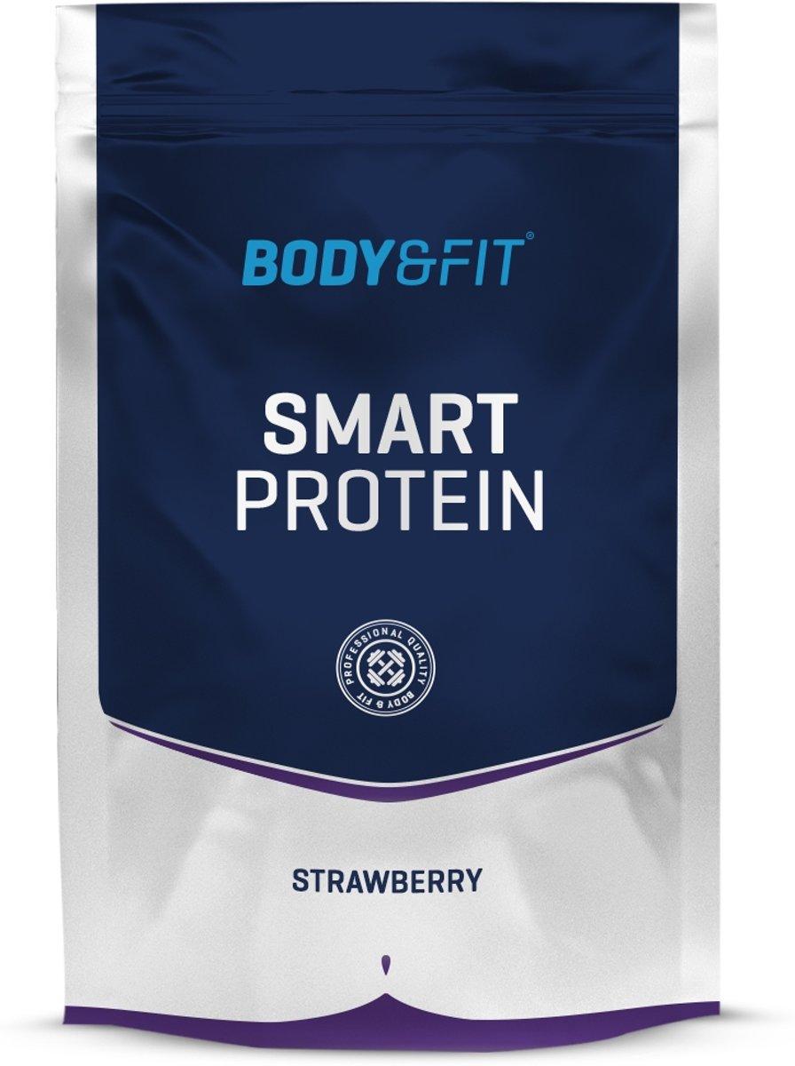 Body & Fit Smart Protein - Eiwitpoeder / Eiwitshake - 750 gram - Strawberry milkshake kopen