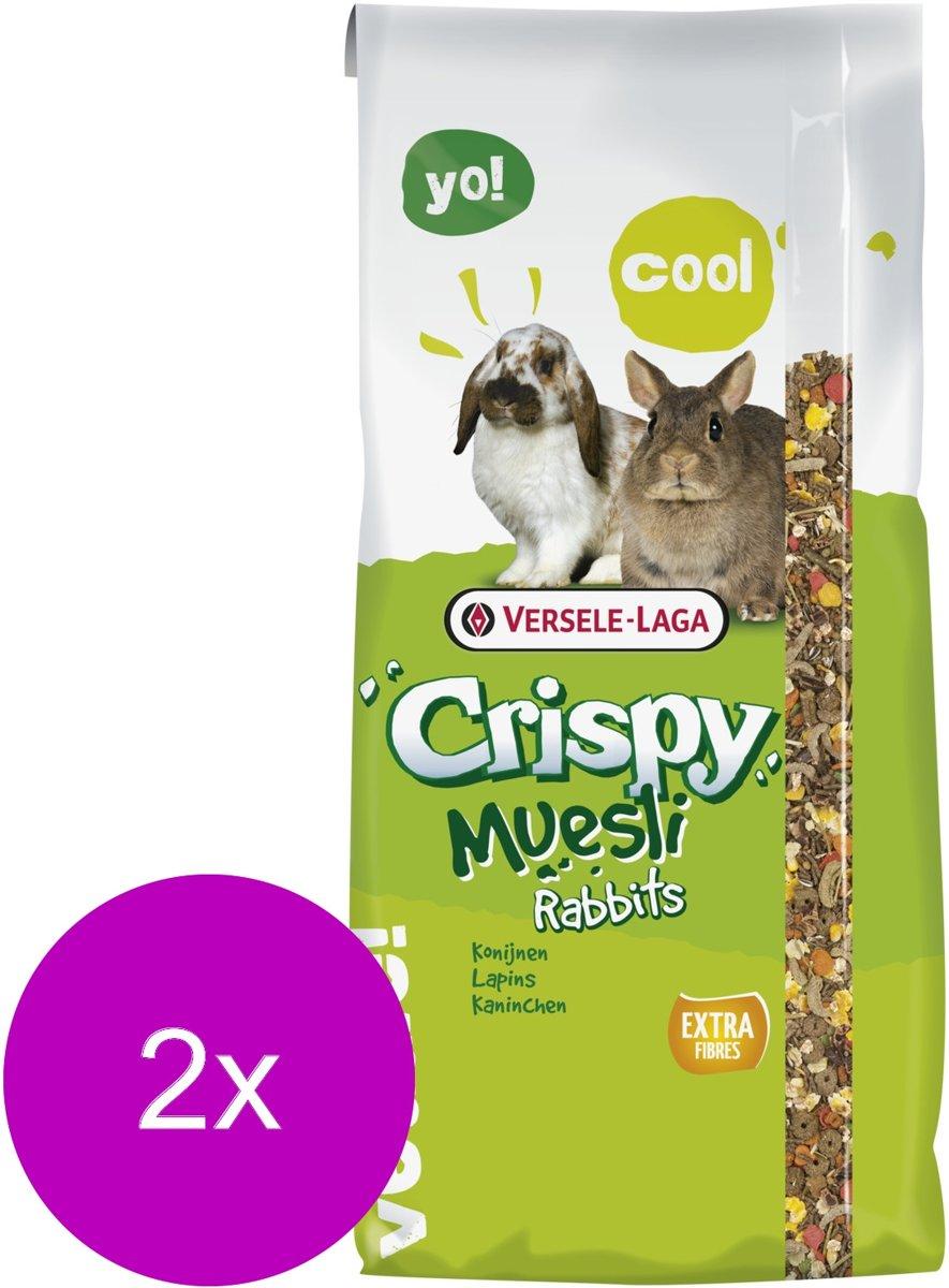 Versele-Laga Crispy Muesli Konijnen - Konijnenvoer - 2 x 20 kg
