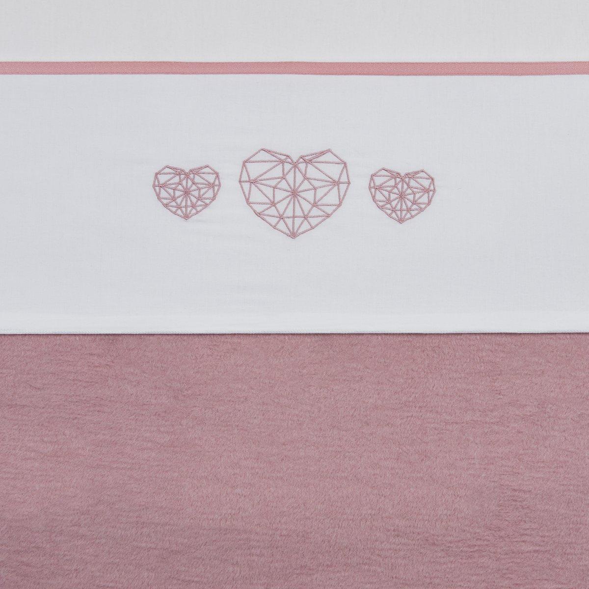 Meyco ledikantlaken Geometric Heart - 100 x 150 cm - oudroze