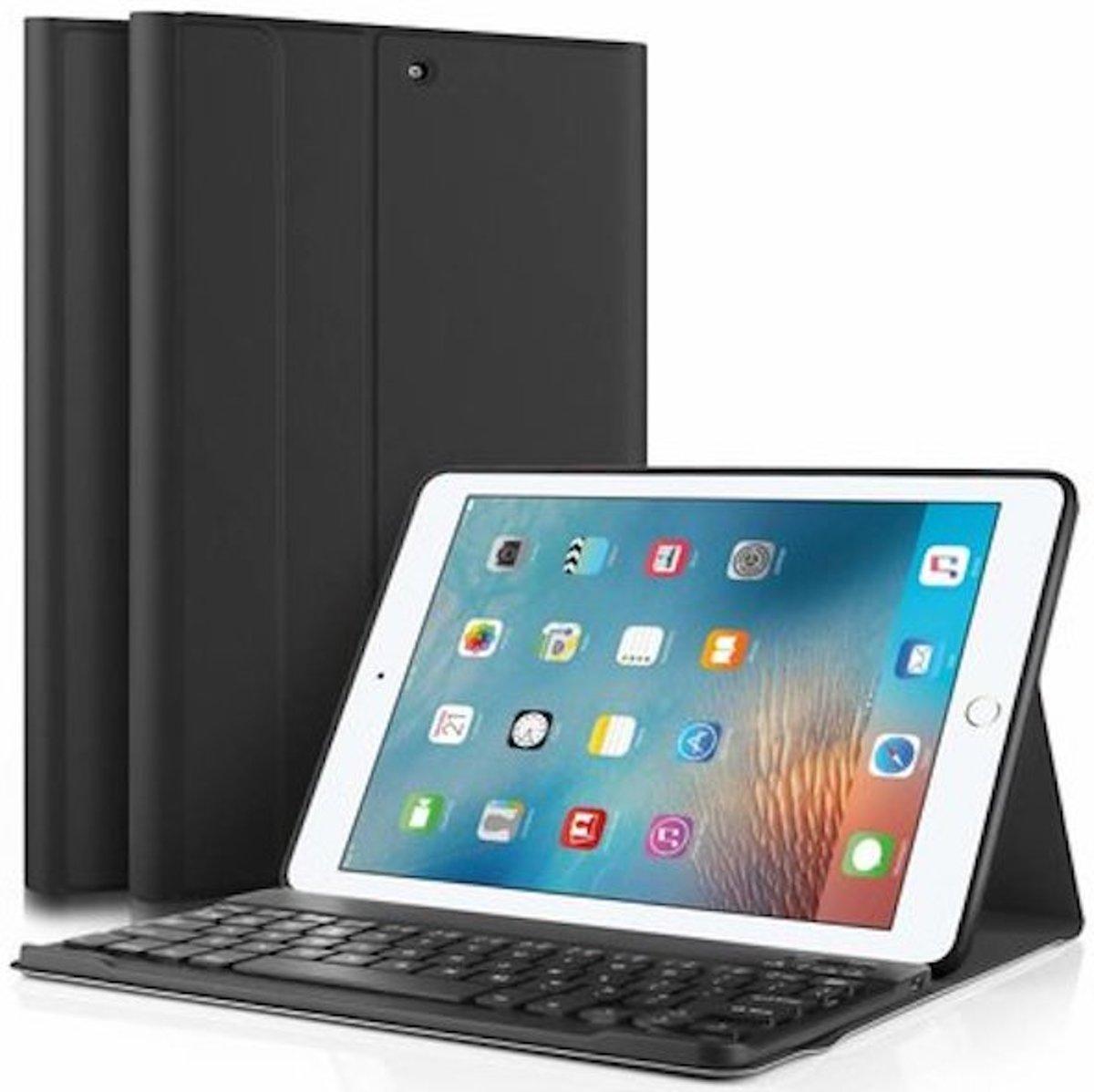 Tablet2you Apple iPad 2018 toetsenbord in Leren Hoes - Zwart kopen