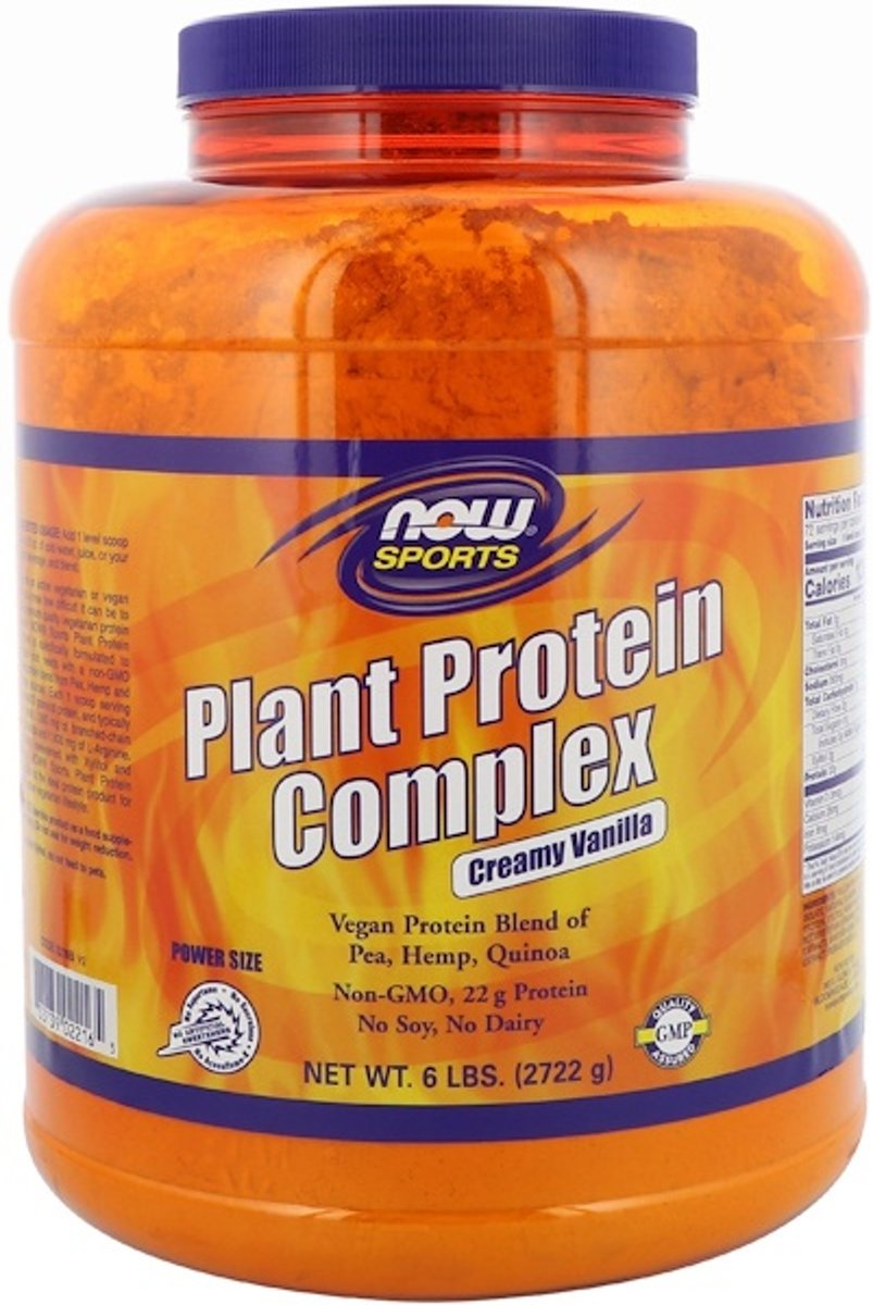 Plant Protein Complex- Creamy Vanilla (2722 gram) - Now Foods kopen