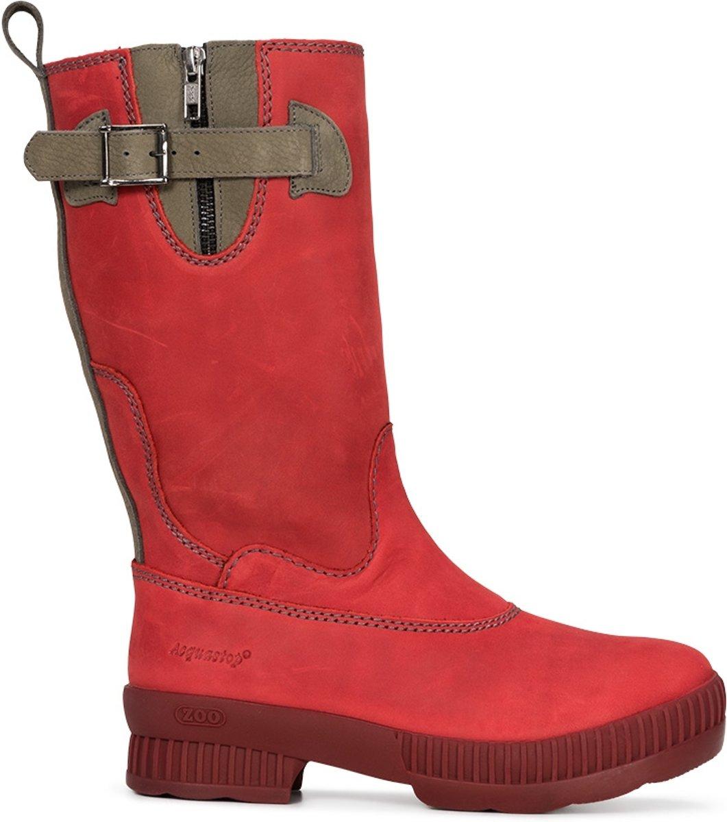 Outdoor laarzen ZOO Dames – Rood – Waterdicht, Leer, Wol – Adisa 36