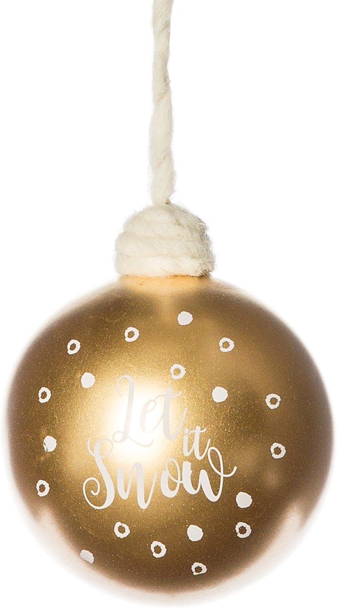 Kerstbal Let it snow goud 10cm kopen