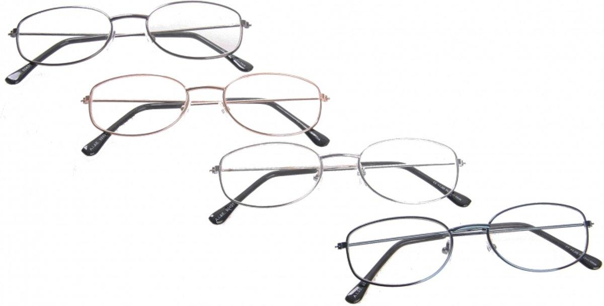 Leesbril +3.50 ovaal  zwart kopen