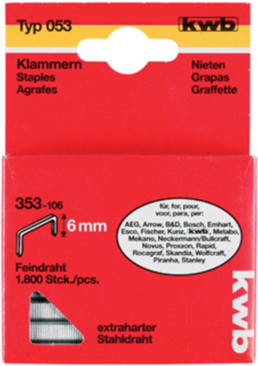 KWB Nieten Hard Type 053C - 18 mm - 800 Stuks kopen