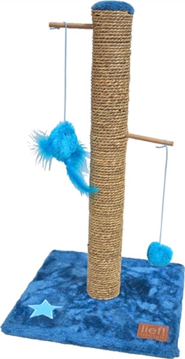 Lief! Krabpaal Boys - Blauw - 62 cm