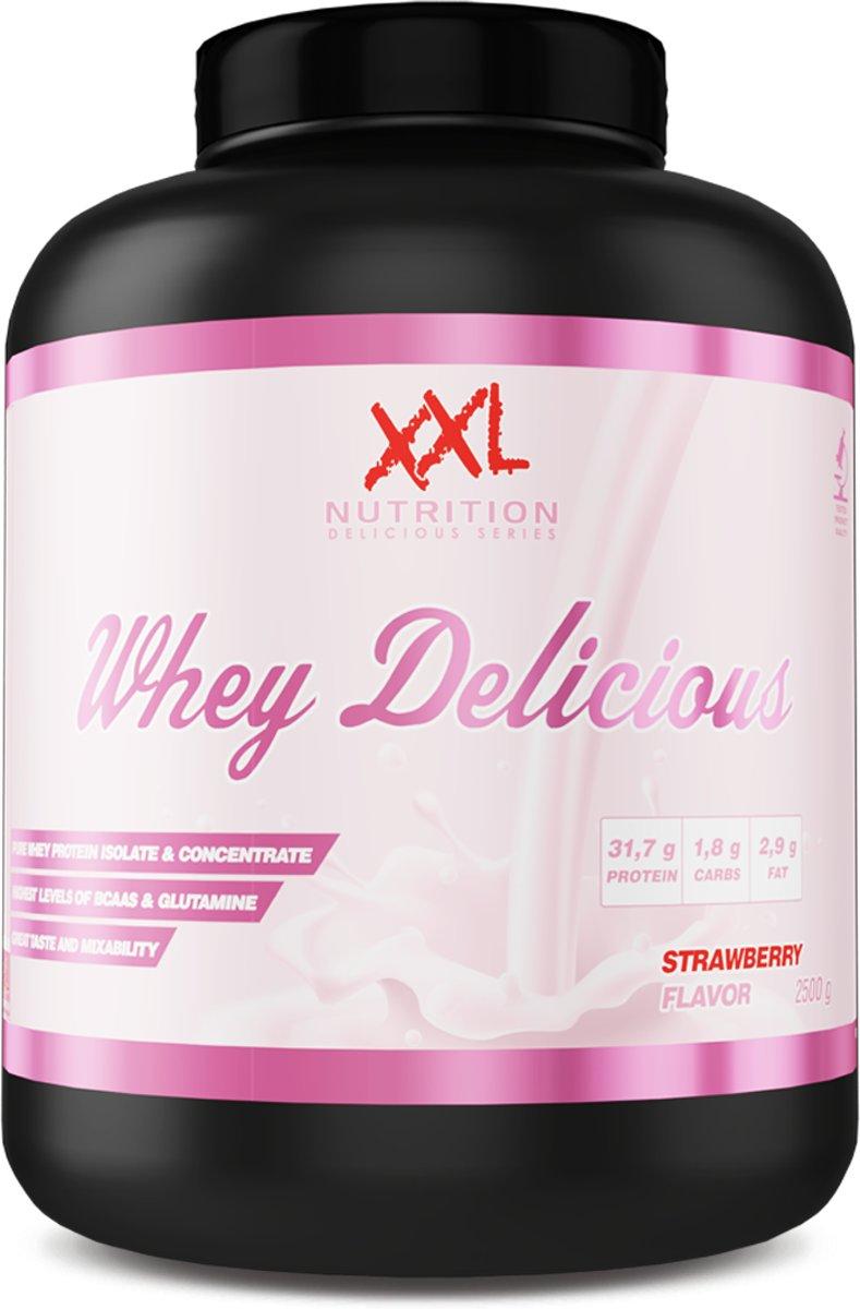 XXL Nutrition Whey Delicious Eiwitshake - Proteine - 2500 gram - Aardbei kopen
