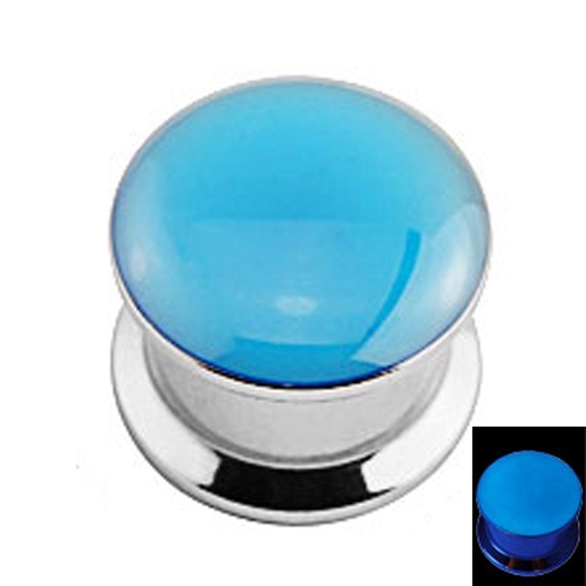 12 mm Screw-fit plug glow in the dark blauw ©LMPiercings kopen