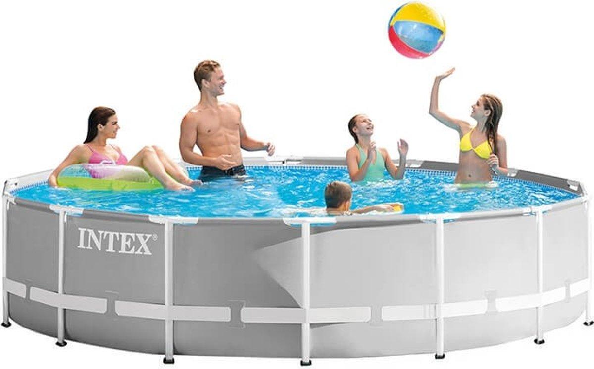 Intex Prism Frame zwembad 457 x 107 cm (met reparatiesetje)