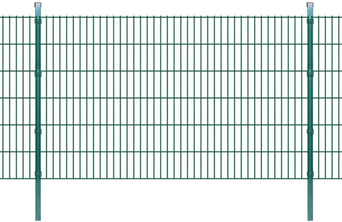 vidaXL Dubbelstaafmat 2008 x 1230 mm 4 m groen 2 stuks kopen