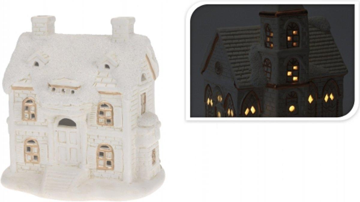 Porseleinen huisje met led licht type 3 kopen