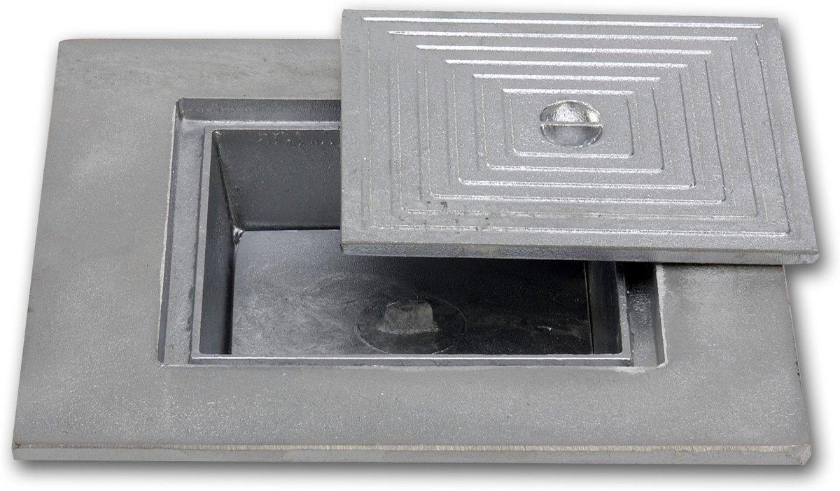 Dubbelbodem gegoten aluminium inspectiedeksel -      50x30cm