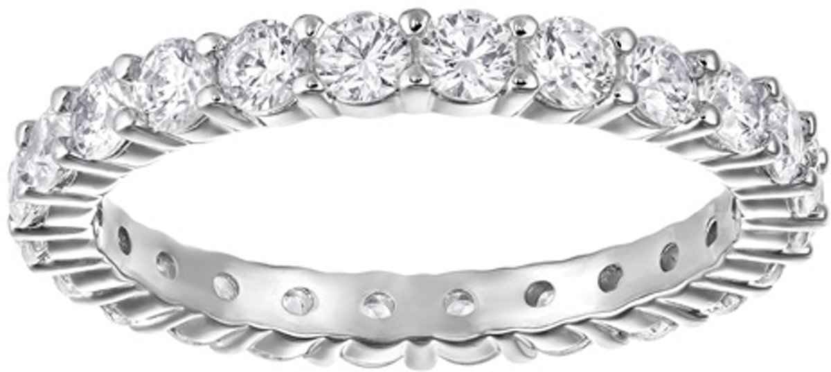 Swarovski Vittore zilverkleurige ring met stenen 5257479 (maat 58) kopen