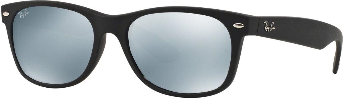 Ray-Ban RB2132 622/30 - zonnebril - New Wayfarer (Flash) - Zwart / Zilver Flash - 55mm kopen