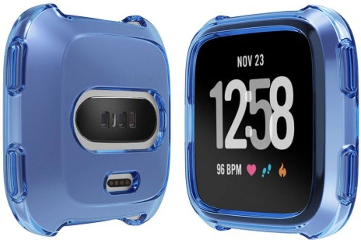 Soft Protective TPU Case Shell for Fitbit Versa - Blauw kopen