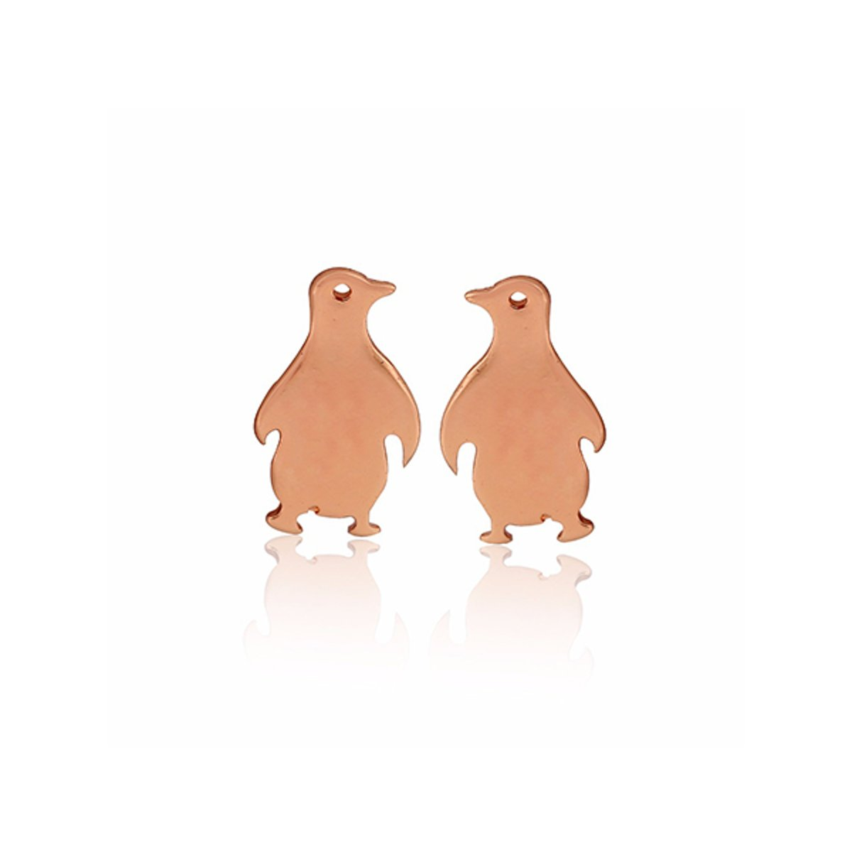 24/7 Jewelry Collection Pinguin Oorbellen - Pinguïns - Róse Goudkleurig kopen